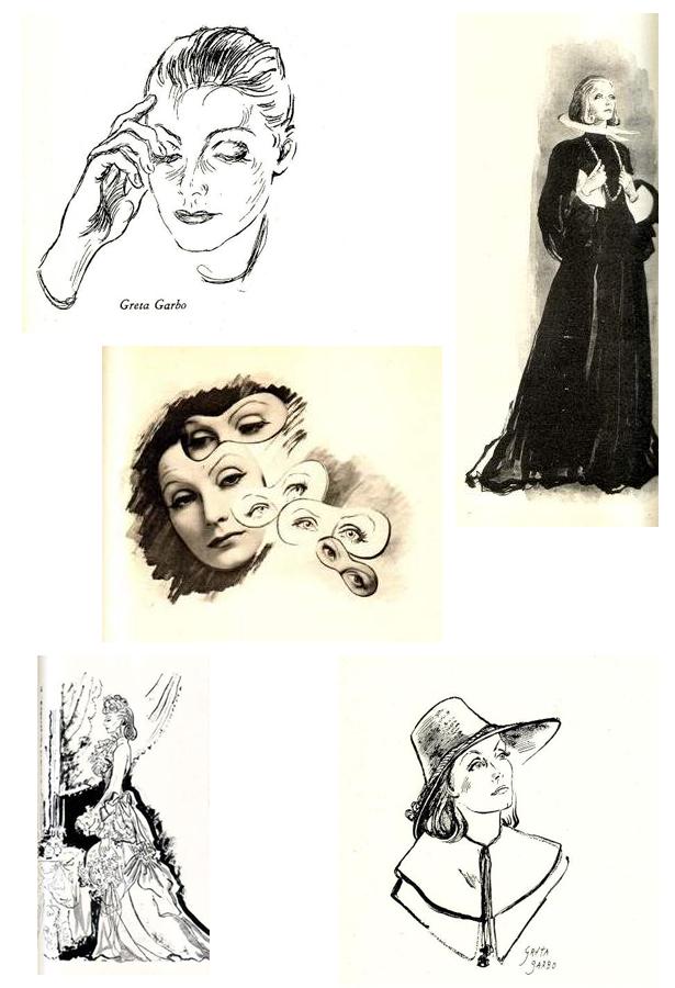 beaton-garbo-sketches